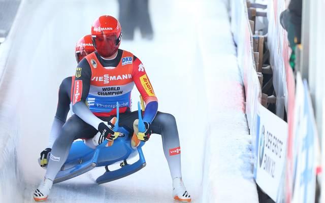 Toni Eggert und Sascha Benecken gewannen den Rodel-Weltcup in Lake Placid