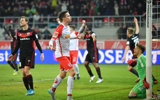 Sebastian Stolze erzielte gegen Ingolstadt sein drittes Saisontor für Regensburg