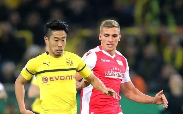 Shinji Kagawa (l.) steht vor einem Abschied beim Borussia Dortmund