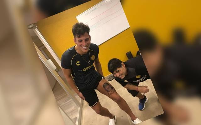 Gaspar Servio ließ sich ein Maradona-Konterfei auf den Oberschenkel tätowieren
