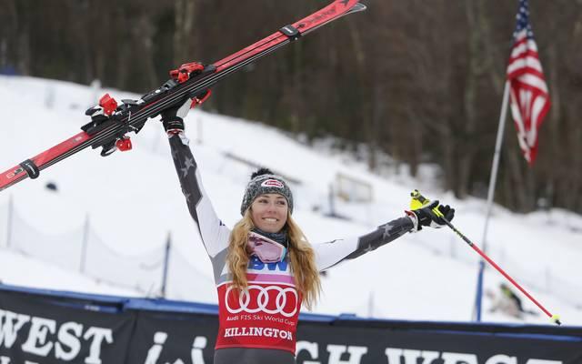 Ski Alpin: Mikaela Shiffrin gewinnt Slalom in Killington - Rekord winkt