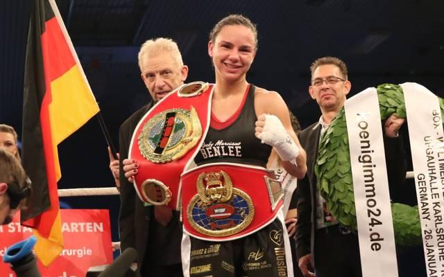 Sarah Bormann verteidigt am 4. Mai in Frankfurt ihren WM-Gürtel im Leicht-Federgewicht