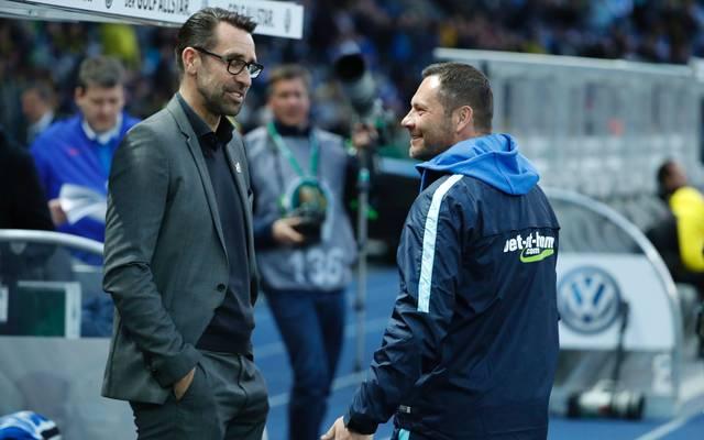 Hertha-Manager Michael Preetz (l.) und Trainer Pal Dardei (r.) sind seit 2015 gemeinsam für die Berliner verantwortlich
