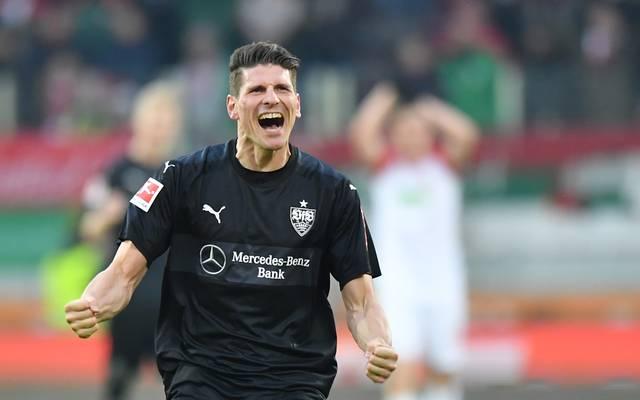 Mario Gomez hat mit dem VfB Stuttgart vorzeitig den Klassenerhalt perfekt gemacht