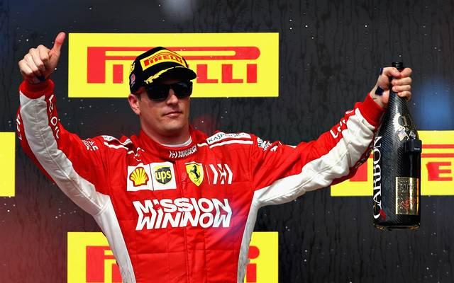 Kimi Räikkönen hat nach langer Durststrecke in den USA einen Sieg gefeiert