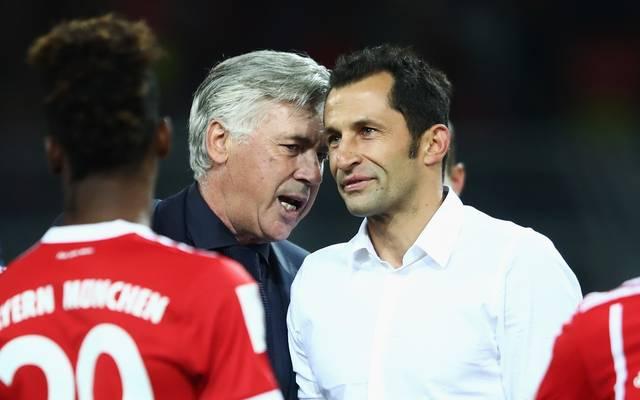 Hasan Salihamidzic (r.) ist seit zwei Wochen neuer Sportdirektor des FC Bayern