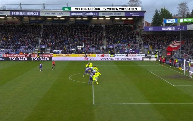 3. Liga: VfL Osnabrück - SV Wehen Wiesbaden (2:1): Tore und Highlights im Video