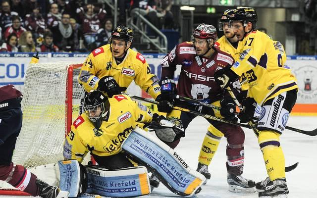 Die Eisbären Berlin halten sich nach dem Sieg gegen Krefeld weiter an der Tabellenspitze