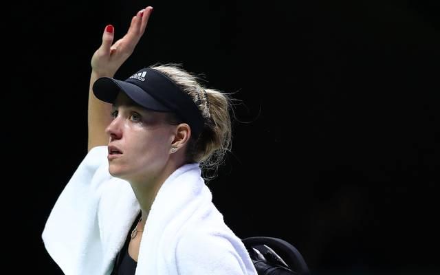 Angelique Kerber verabschiedete sich mit einer Niederlage aus Singapur