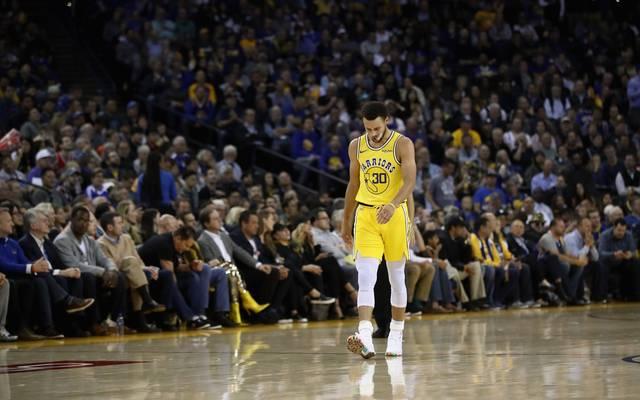 Stephen Curry fehlt den Golden State Warriors verletzt