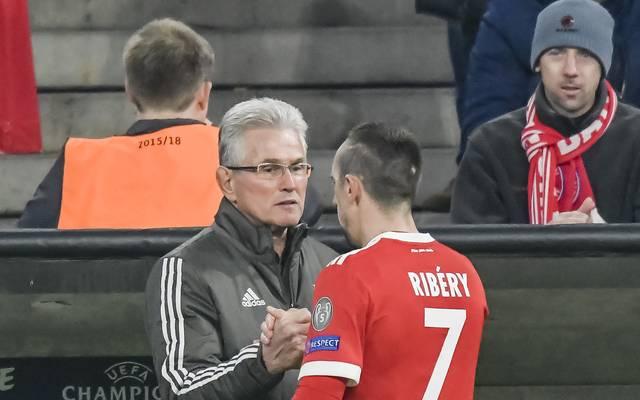 Jupp Heynckes und Franck Ribery verstehen sich offenbar gut