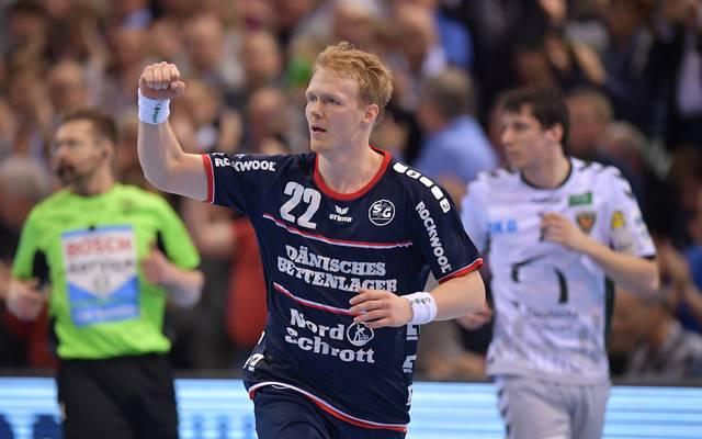 Anders Zachariassen sicherte Flensburg den knappen Sieg in Zagreb