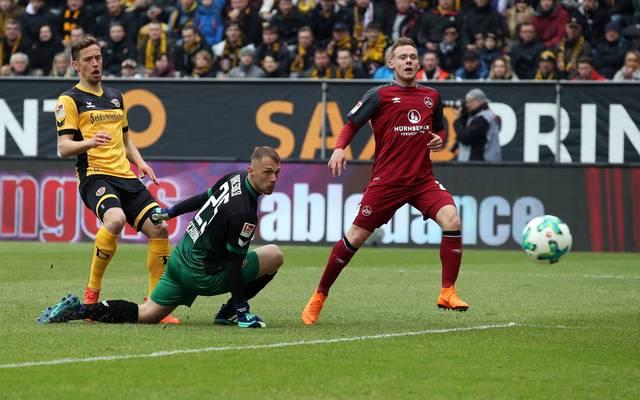 Der 1. FC Nürnberg bleibt trotz seiner Sieglos-Serie auf dem zweiten Platz