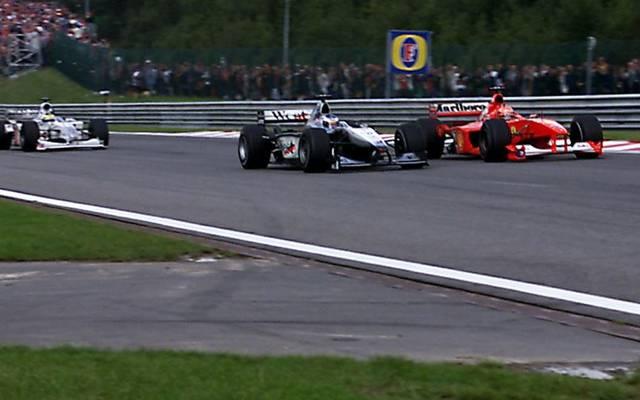 In Spa 2000 überholte Mika Häkkinen Michael Schumacher, nebenbei überrundete er auch noch Ricardo Zonta