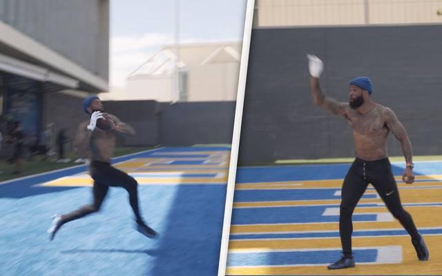 NFL: Odell Beckham Jr. zeigt irre Skills als Quarterback