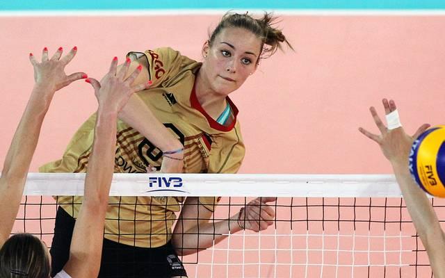 Diagonalangreiferin Louisa Lippmann ist seit 2014 Nationalspielerin