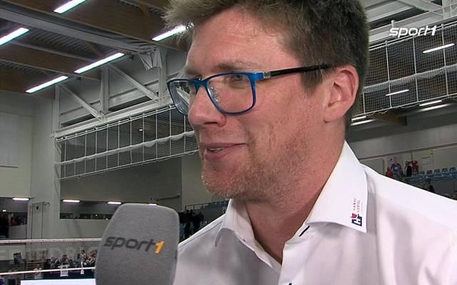 Stefan Hübner nach SVG Lüneburg gegen Berlin Recycling Volleys im DVV Pokal