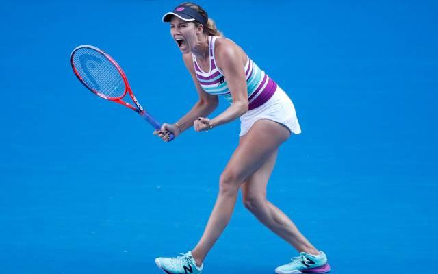 Australian Open: Viertelfinale mit Collins, Kvitova, Pavlyuchenkova, Barty , Danielle Collins freut sich über den Einzug ins Halbfinale der Australian Open