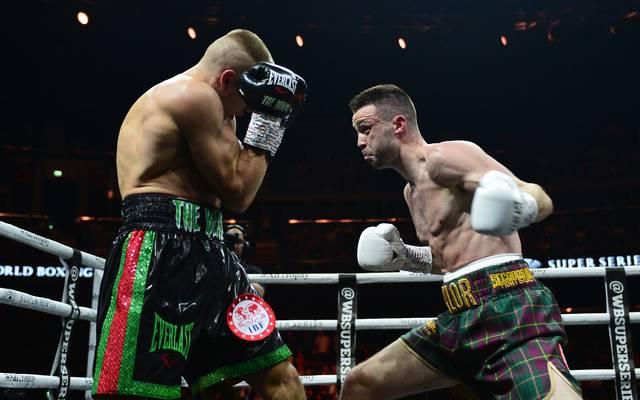 Josh Taylor (r.) besiegte Ivan Baranchyk nach Punkten