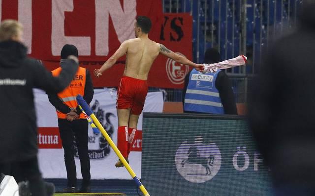 Davor Lovren erzielt für Fortuna Düsseldorf den Siegtreffer