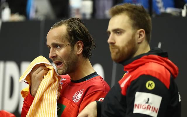 Silvio Heinevetter (l.) und Andreas Wolff bilden das Torhüter-Duo des deutschen Teams