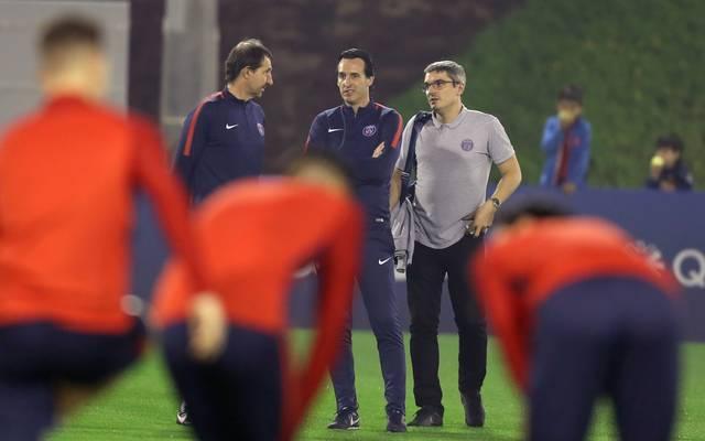 Der Vertrag von Unai Emery (M.) bei Paris Saint-Germain läuft im Sommer aus