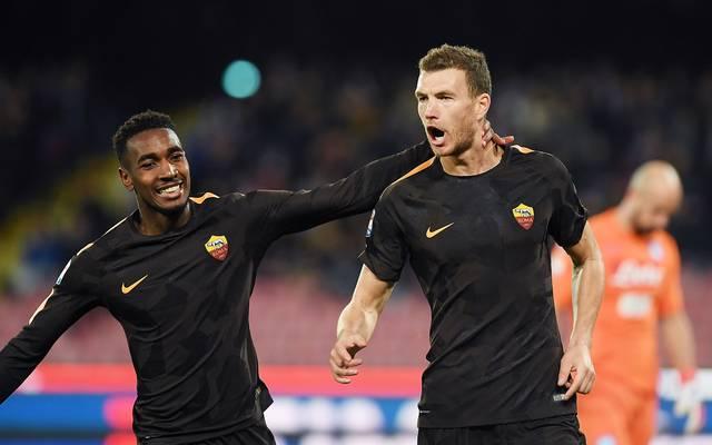 Edin Dzeko traf beim Sieg der Roma