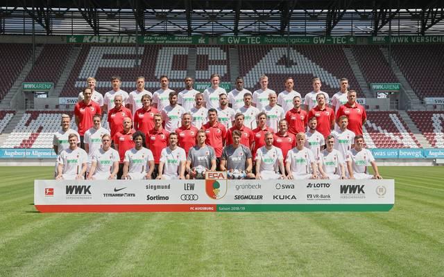 Mannschaftsfoto von FC Augsburg