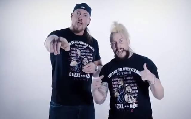 Big Cass (l.) und Enzo Amore nennen sich nun CaZXL und nZo