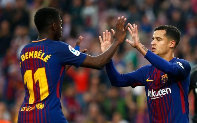 Ousmane Dembele (l.) erstreikte seinen Wechsel von Borussia Dortmund zum FC Barcelona