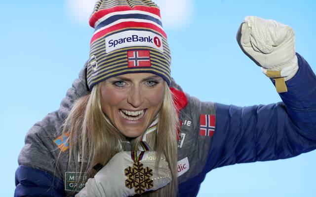 Therese Johaug gewann bei der WM bereits den Skiathlon über 15 Kilometer