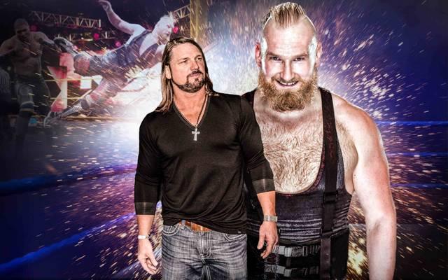 AJ Styles (l.) traut Alexander Wolfe eine große Karriere zu