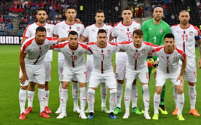Mannschaftsfoto von Serbien