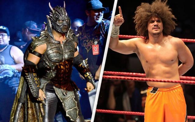 Bei Grandslam Wrestling treten unter anderem Drago (l.) und Carlito an