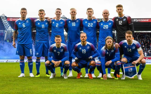 Mannschaftsfoto von Island