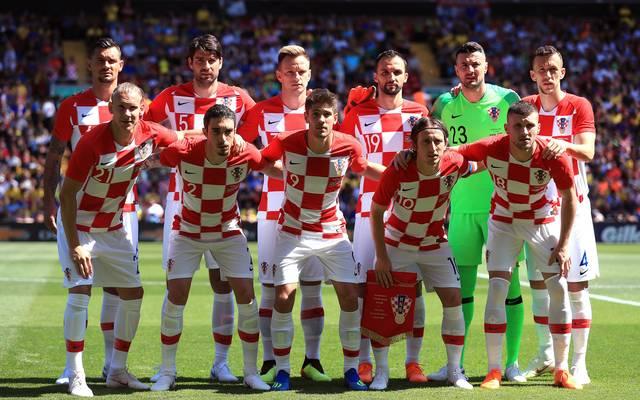 Mannschaftsfoto von Kroatien