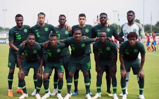 Mannschaftsfoto von Nigeria