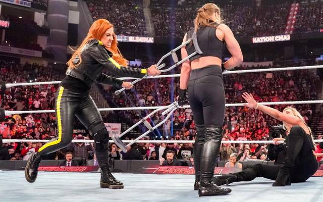 Becky Lynch ging bei WWE No Escape 2019 auf Ronda Rousey und Charlotte Flair los
