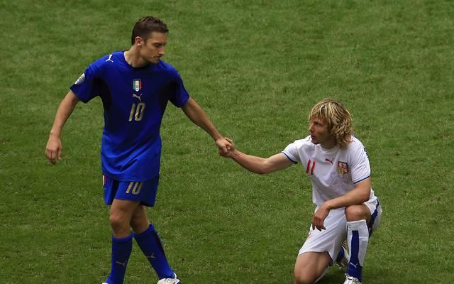 "Rom-Legende Francesco Totti über Pavel Nedved: ""Fürchterliche Heulsuse"""