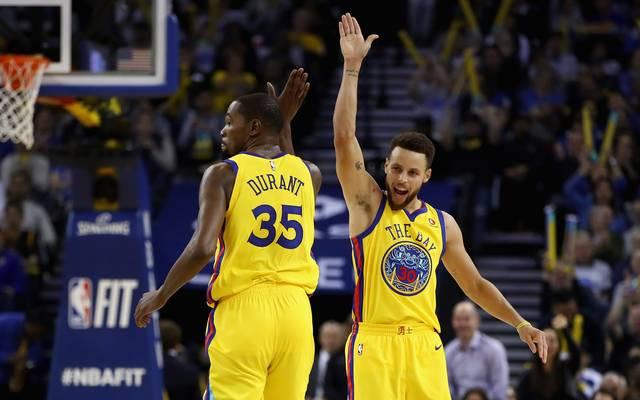 Warriors-Star Stephen Curry zeigte gegen die Boston Celtics eine Galavorstellung