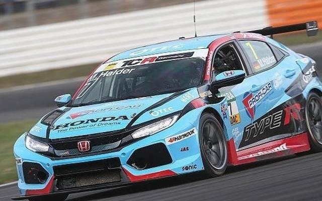 Mike Halder fuhr im Honda Civic zur Bestzeit im ersten Training in Hockenheim