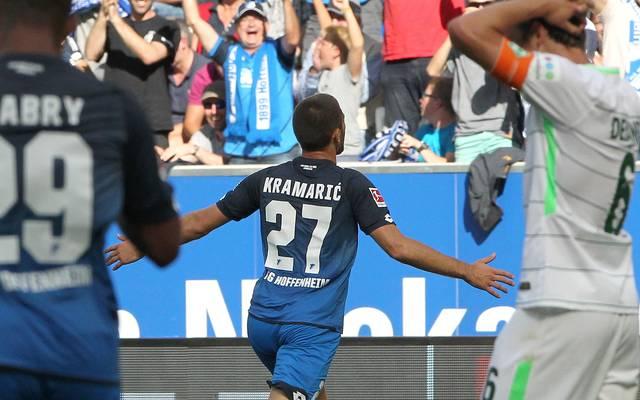 Andrej Kramaric brachte Hoffenheim kurz vor Schluss in Führung