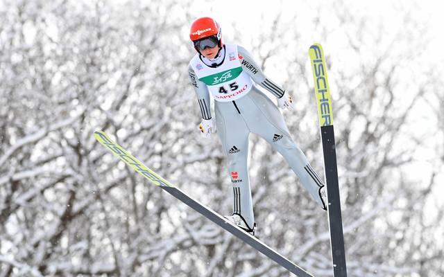Carina Vogt ist die erste Frauen-Olympiasiegerin im Skispringen