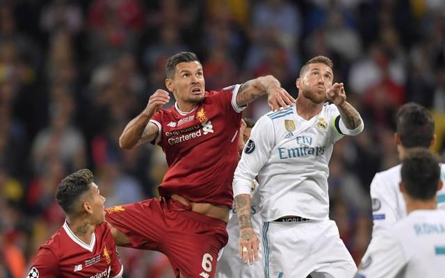 Dejan Lovren (l.) und Sergio Ramos gerieten schon im Champions-League-Finale von Liverpool und Real Madrid aneinander