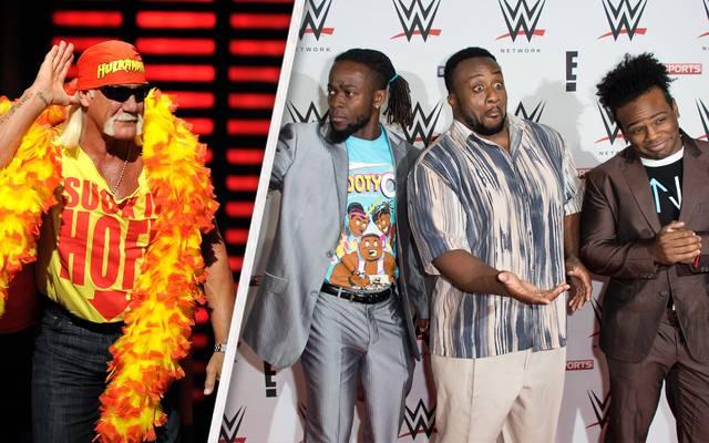 Die Gruppierung The New Day (r.) übt nach der WWE-Rückkehr von Hulk Hogan Kritik