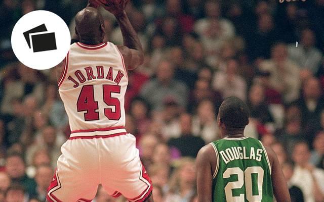 Michael Jordan trug in der NBA nur kurz die Nummer 45