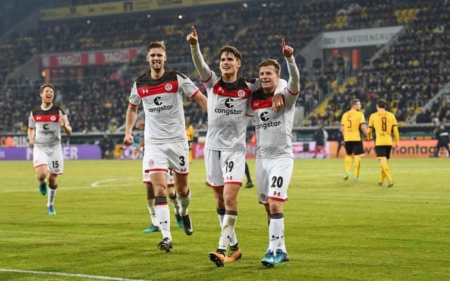 Der FC St. Pauli kletterte dank des Sieges auf Rang acht