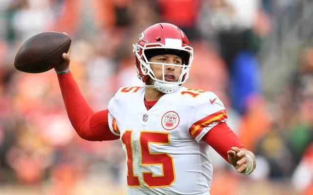 Patrick Mahomes (Kansas City Chiefs) jagt den Touchdown-Rekord von Peyton Manning