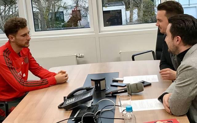 Goretzka nahm sich für das Interview viel Zeit. Eine Viertelstunde war geplant, 25 Minuten wurden es am Ende