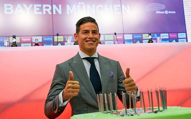 James Rodriguez bei seiner Vorstellung beim FC Bayern München